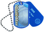 Volleyball Epoxy Dog Tag