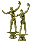 Volleyball Figurine - Metal - 6""